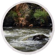 Poudre River 2 Round Beach Towel