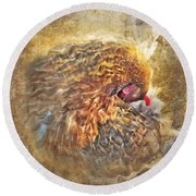 Poultry Passion Round Beach Towel