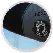Pow Mia Rememberance Round Beach Towel