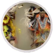 Pow Wow Beauty Of The Dance 1 Round Beach Towel