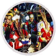 Pow Wow Beauty Of The Past 5 Round Beach Towel