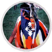 Pow-wow Colors Round Beach Towel