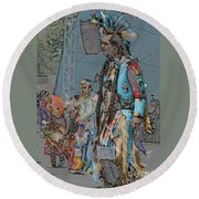 Pow Wow Competition Round Beach Towel