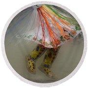 Pow Wow Shawl Dancer 4 Round Beach Towel