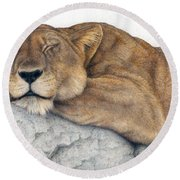 Power And Grace At Rest Round Beach Towel