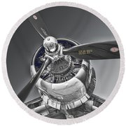 Power And The Majesty Round Beach Towel