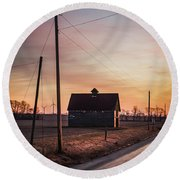 Power Farm Round Beach Towel