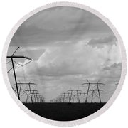Power In The Sky Round Beach Towel