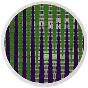 Power Tower And Agave Abstract Round Beach Towel