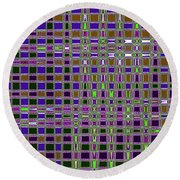 Power Tower And Agave Checkerboard Abstract Round Beach Towel