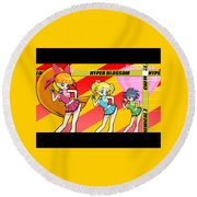 Powerpuff Girls Z Round Beach Towel