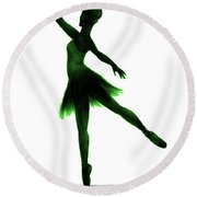 Practice Makes Perfect - Green Round Beach Towel