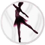 Practice Makes Perfect - Pink Round Beach Towel