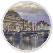 Prague, Czech Republic Round Beach Towel