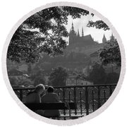 Prague II Round Beach Towel