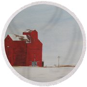 Prairie Giants I  Round Beach Towel