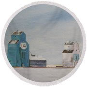 Prairie Giants II Round Beach Towel