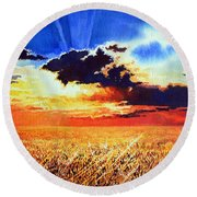 Prairie Gold Round Beach Towel