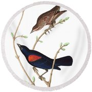 Prairie Starling Round Beach Towel