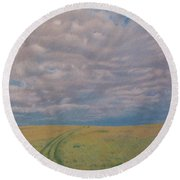 Prairie Trail Round Beach Towel