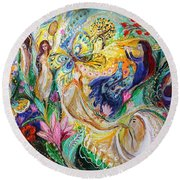 Praise Him With The Timbrel And Dance Round Beach Towel