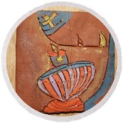 Prayer 29 - Tile Round Beach Towel