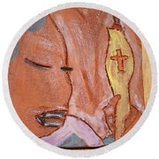 Prayer 33 - Tile Round Beach Towel