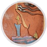 Prayer 34 - Tile Round Beach Towel