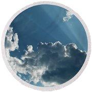 Prayer Cloud Round Beach Towel