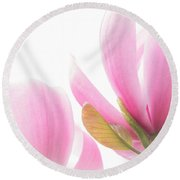 Preciously Pink Round Beach Towel