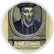 Predictions Of Nostradamus 4 Round Beach Towel