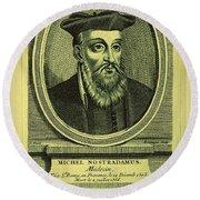 Predictions Of Nostradamus 2 Round Beach Towel