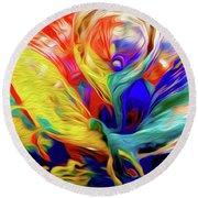 Premorphationism Glass Round Beach Towel