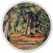 Pres Du Jas De Bouffan Round Beach Towel by Paul Cezanne