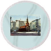 Presbyterian Church, Ny Avenue Washington Dc Round Beach Towel