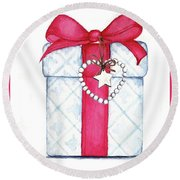Present Round Beach Towel