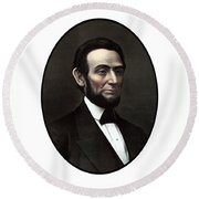 President Abraham Lincoln  Round Beach Towel