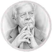 President Carter Round Beach Towel