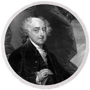 President John Adams Round Beach Towel by War Is Hell Store