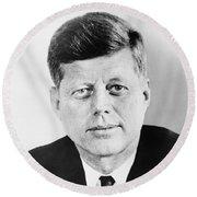 President John F. Kennedy Round Beach Towel