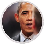 President Obama II Round Beach Towel