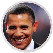 President Obama IIi Round Beach Towel