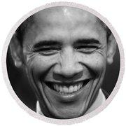 President Obama V Round Beach Towel