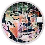 President Of The United States Donald Trump Round Beach Towel