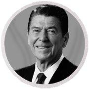 President Reagan Round Beach Towel