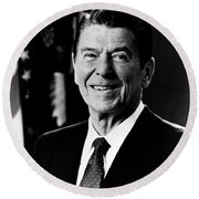 President Ronald Reagan Round Beach Towel by International  Images