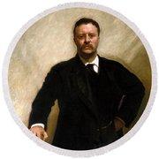 President Theodore Roosevelt Painting Round Beach Towel