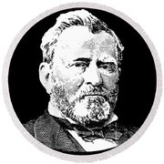 President Ulysses S. Grant Round Beach Towel by War Is Hell Store