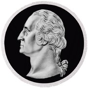 President Washington Bust  Round Beach Towel
