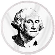 President Washington Round Beach Towel